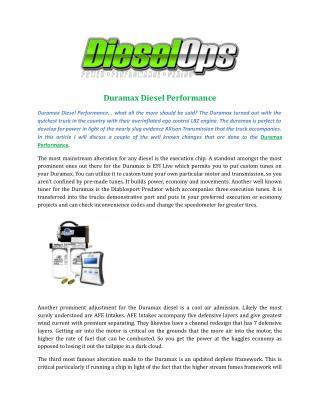 Duramax Diesel Performance