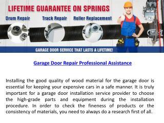 Garage Door Repair ProfessionalAssistance