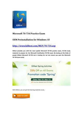 Microsoft 70-734 Guide Killtest