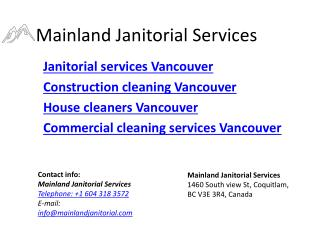 Mainland Janitorial Services