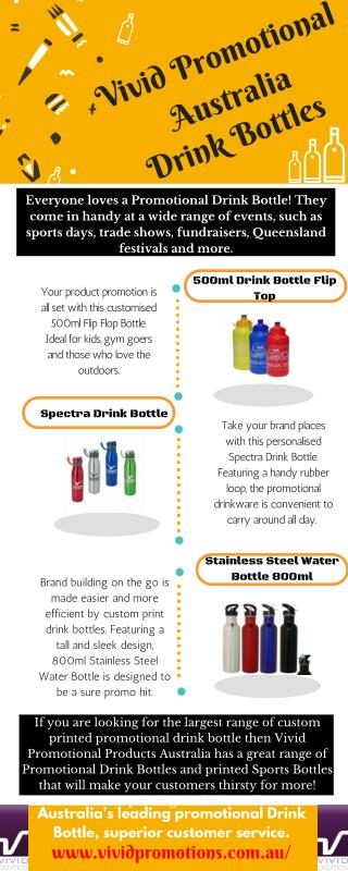 Promotional Drink Bottle at Vivid Promotions Australia