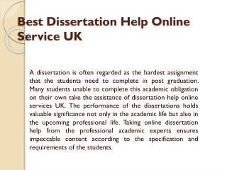 Dissertation Help Online- Get Dissertation Help Services UK by MyAssignmenthelp Experts