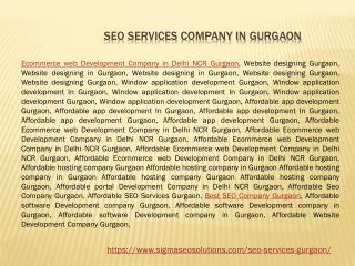 SEO Services Gurgaon