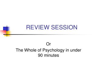 REVIEW SESSION