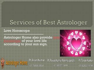 Services of Astrolger Home - The Best Astrologer - Part 3