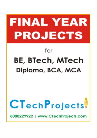 IEEE Final Year Project Titles 2016-17 - Java - Data Mining