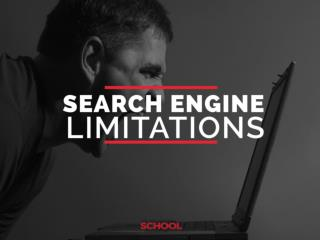 Search engine limitations insider
