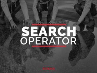 Search operators insider