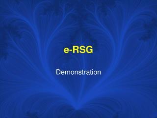 E-RSG