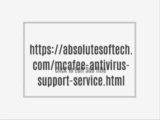 Mcafee Antivirus Support Phone Number