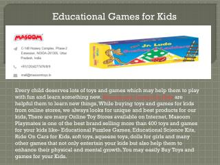 Buy Best Educational Board Games For Kids