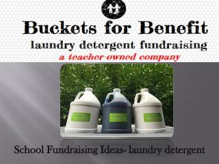 School Fundraising Ideas- laundry detergent