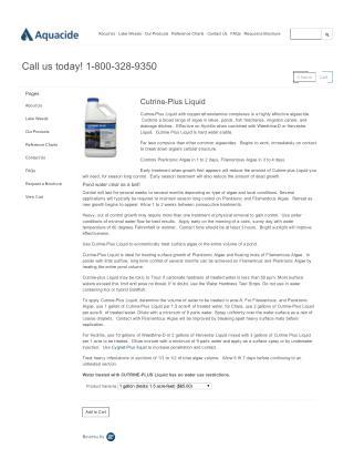 Cutrine-Plus Liquid - For  Controlling  a Broad Range of Algae
