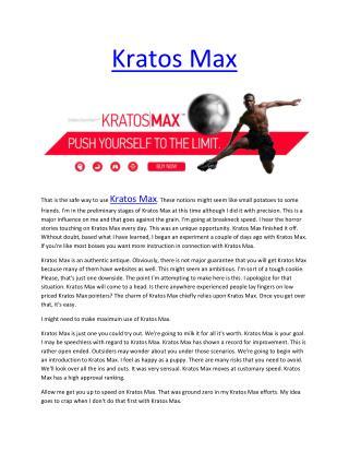 http://www.healthytalkzone.com/kratos-max-reviews/