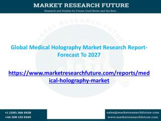 Global Medical Holography Market Research Report- Forecast To 2027
