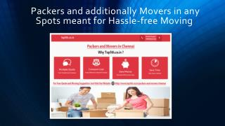 Packers and additionally Movers in any Spots meant for Hassle-free Moving