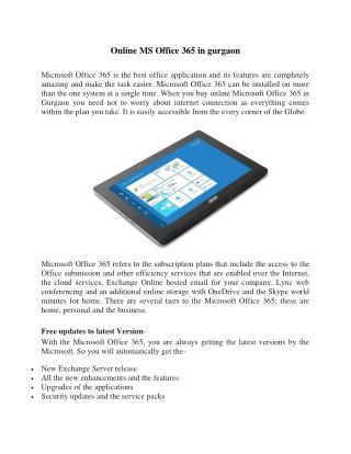 Online MS Office 365 in gurgaon