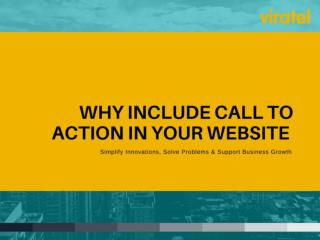 Why Include Call to Action in Your Website?