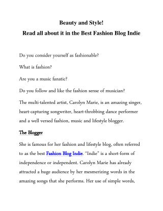 Carolyn Marie is famous for her fashion & Life Style