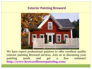 Exterior Painting Broward