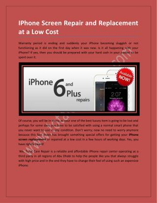 IPhone Screen Repair and Replacement