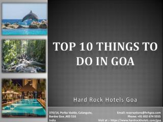 Top 10 Things to Do in Goa.Beach