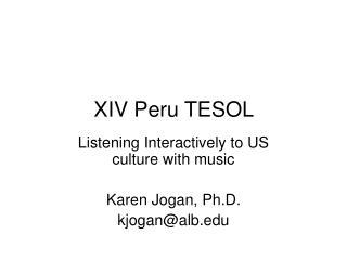 XIV Peru TESOL