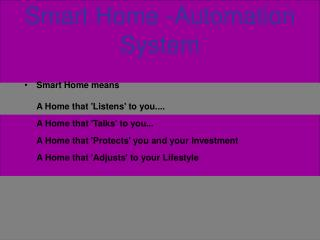 Smart Home -Automation System