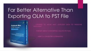 Exporting OLM Emails to Outlook PST Format