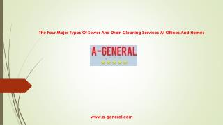 The Four Types Of Drain Cleaning Services At Office & Homes