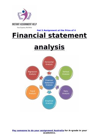 Financial statement analysis Sample for Students
