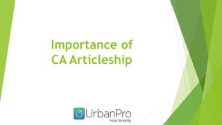 Importance of CA Articleship