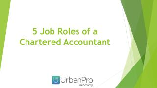 5 Job Roles of a Chartered Accountant