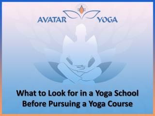 What to Look for in a Yoga School Before Pursuing a Yoga Course
