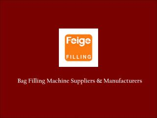 Bag Filling Systems in Singapore