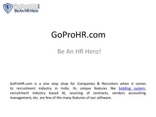 e recruitment software GoProHR