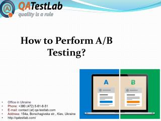 How to Perform A/B Testing?