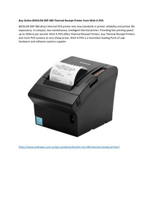 Buy Online BIXOLON SRP-380 Thermal Receipt Printer