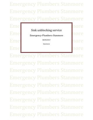 Sink unblocking service