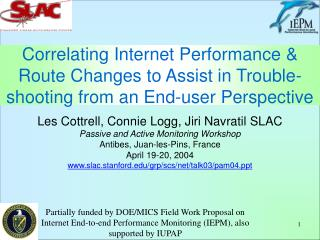 Correlating Internet Performance  Route Changes to Assist in Trouble-shooting from an End-user Perspective