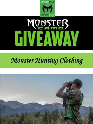 Monster Hunting Clothing