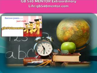 GB 540 MENTOR Extraordinary Life/gb540mentor.com