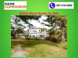 Belfast Maine Homes For Sale