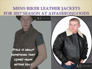 MENS BIKER LEATHER JACKETS FOR 2017 SEASON