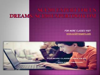 sci 201 expert Focus Dreams/sci201expertdotcom