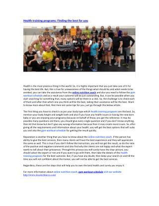 nutrition coach online