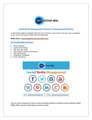 Social Media Management Services   DIM   Clearwater, Florida