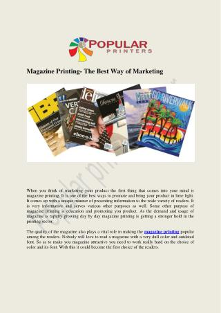 Magazine Printing services in Jaipur by Popular Printers