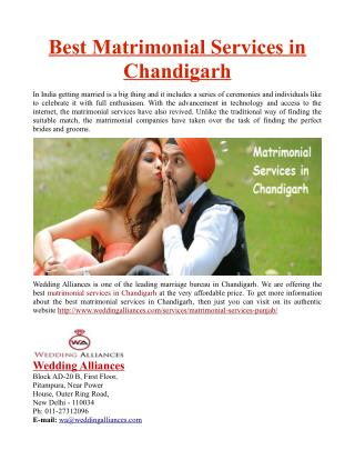 Best Matrimonial Services in Chandigarh