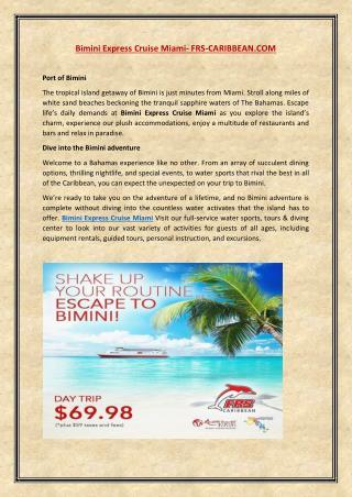bimini express cruise miami